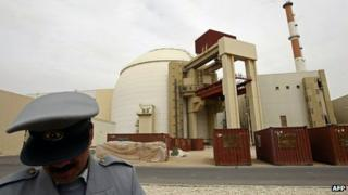 Bushehr nuclear power station in Iran (file image)