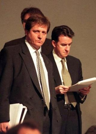 Alastair Campbell and Peter Mandelson in 1997
