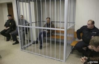 Denis Sinyakov in court in Murmansk, Russia, 26 September