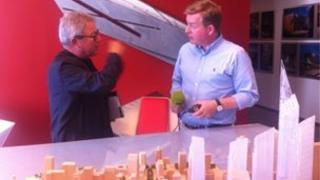 Daniel Libeskind speaks to the BBC's Mark Carruthers