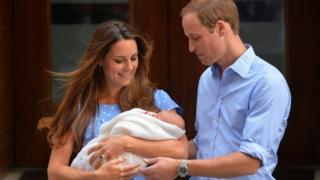 Duke and Duchess of Cambridge show their new-born baby boy