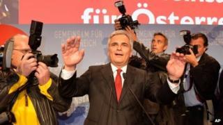 Austrian Chancellor Werner Faymann (29 Sept 2013)