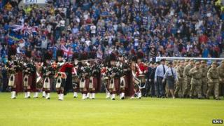 Armed Forces Day at Ibrox
