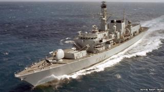Type 23 Frigate HMS Northumberland