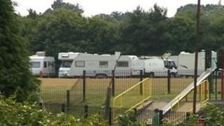 Travellers in Poole