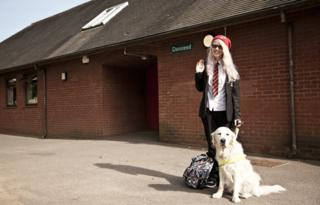 Hannah and her guide dog
