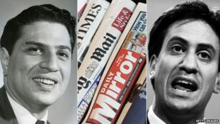 Ralph Miliband, newspapers & Ed Miliband