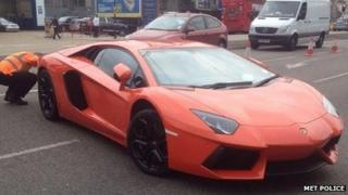 Lamborghini seized by police