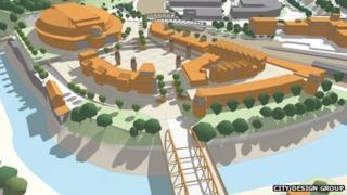 Artist's impression of the Bristol Arena