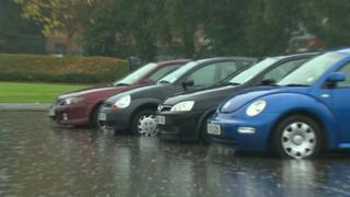 Flash flooding at Glyndwr University