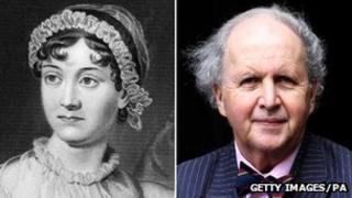 Jane Austen (portrait) and Alexander McCall Smith