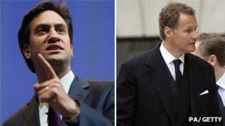 Ed Miliband and Lord Rothermere