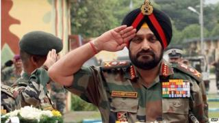 Indian army chief Gen Bikram Singh