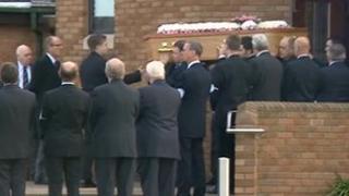 Anne Bury's funeral