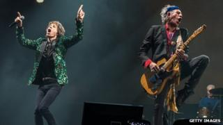 Rolling Stones Mick Jagger and Keith Richards