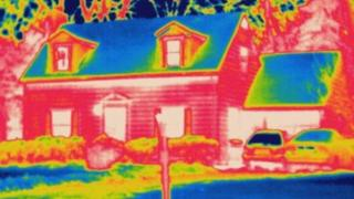 thermogram of a house