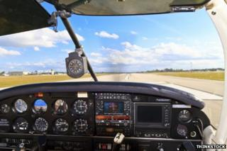 Light aircraft cockpit