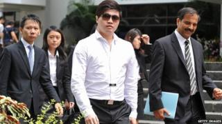 Eric Ding, accused of match fixing in Singapore