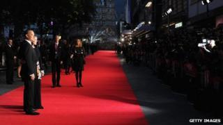 Hanks on red carpet