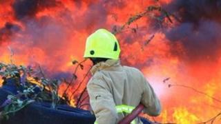 Fire at Gravesend