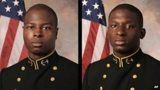 Midshipman Eric Graham and midshipman Joshua Tate in a July 2013 photo