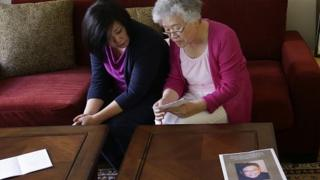 Terri Chung, left, and her mother, Myunghee Bae. Aug 2013