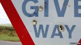 Damaged sign (Pic: Matt Seiber)