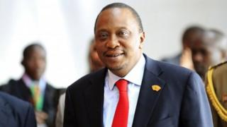 Kenyan President Uhuru Kenyatta in Addis Ababa on 12 October