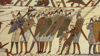 Saxon soldiers at the Battle of Hastings