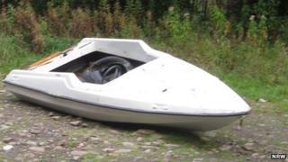 The speedboat in n Glyncastle Forest