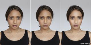 Three differing airbrushed photos