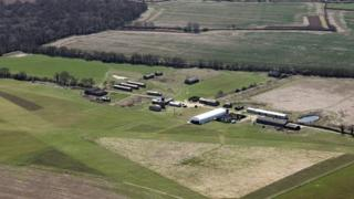 Aerial view of Stow Maries