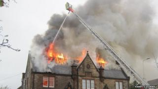 Fire at Corstorphine Youth and Community Centre