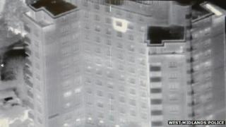 Tower block thermal image