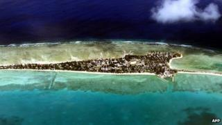 File photo: Tarawa Atoll, capital of Kiribati, 11 September 2001
