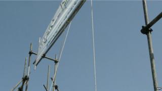An Iranian gallows (file image)