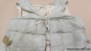 Vest used to smuggle heroin