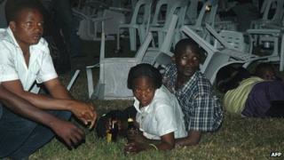 Survivors of the 2010 attack on Kampala