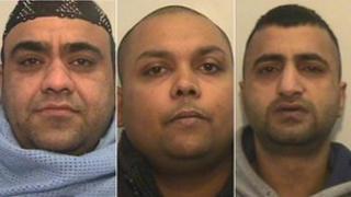 Three men jailed