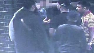CCTV of the attack