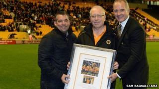 Andy Thompson. Peter Abbott and Steve Bull