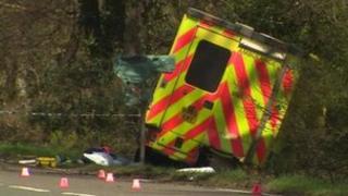 New Forest ambulance crash