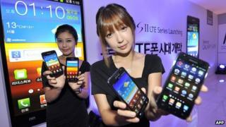 Models showing Samsung Galaxy phones