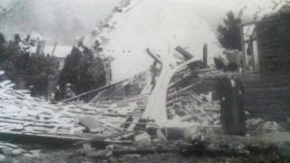 Some buildings collapsed completely