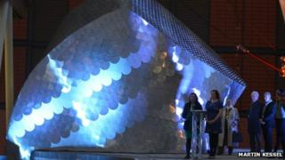 Sarah Nadin and Nicola Winstanley officially unveiled the structure