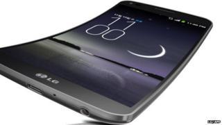 LG Electronics G-Flex smartphone, a curved smartphone