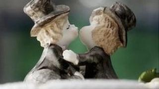 Wedding cake for a civil partnership
