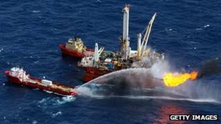 A picture of BP's 2010 oil spill in Mexico