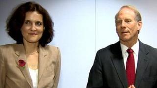Theresa Villiers and Richard Haass