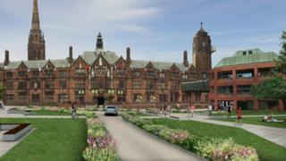 Artist's impression of Coventry Council House after redevelopment